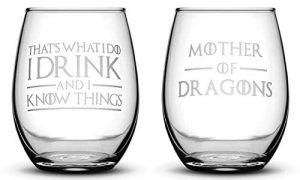 Premium Game of Thrones wine glasses by Integrity Bottles