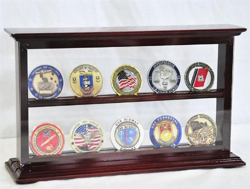 2 Shelves Military Challenge Coin
