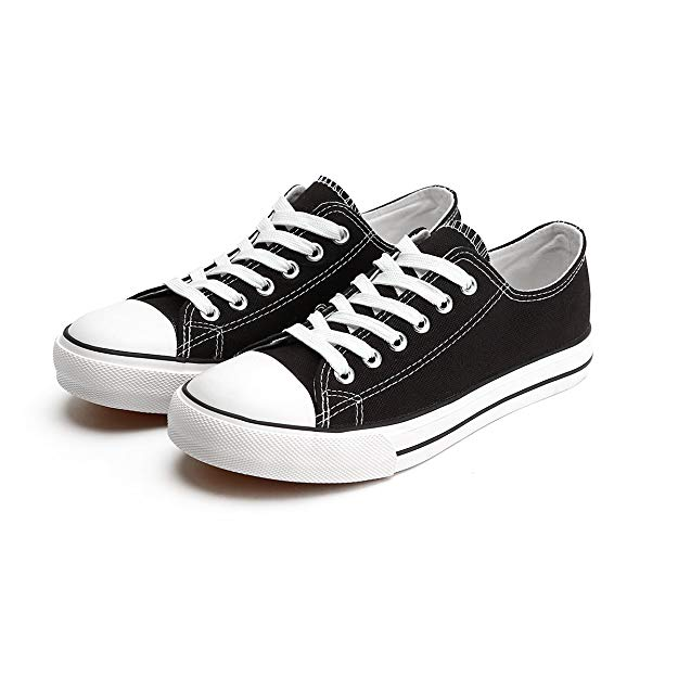 Classic Low Top Sneakers by ZGR in black and white