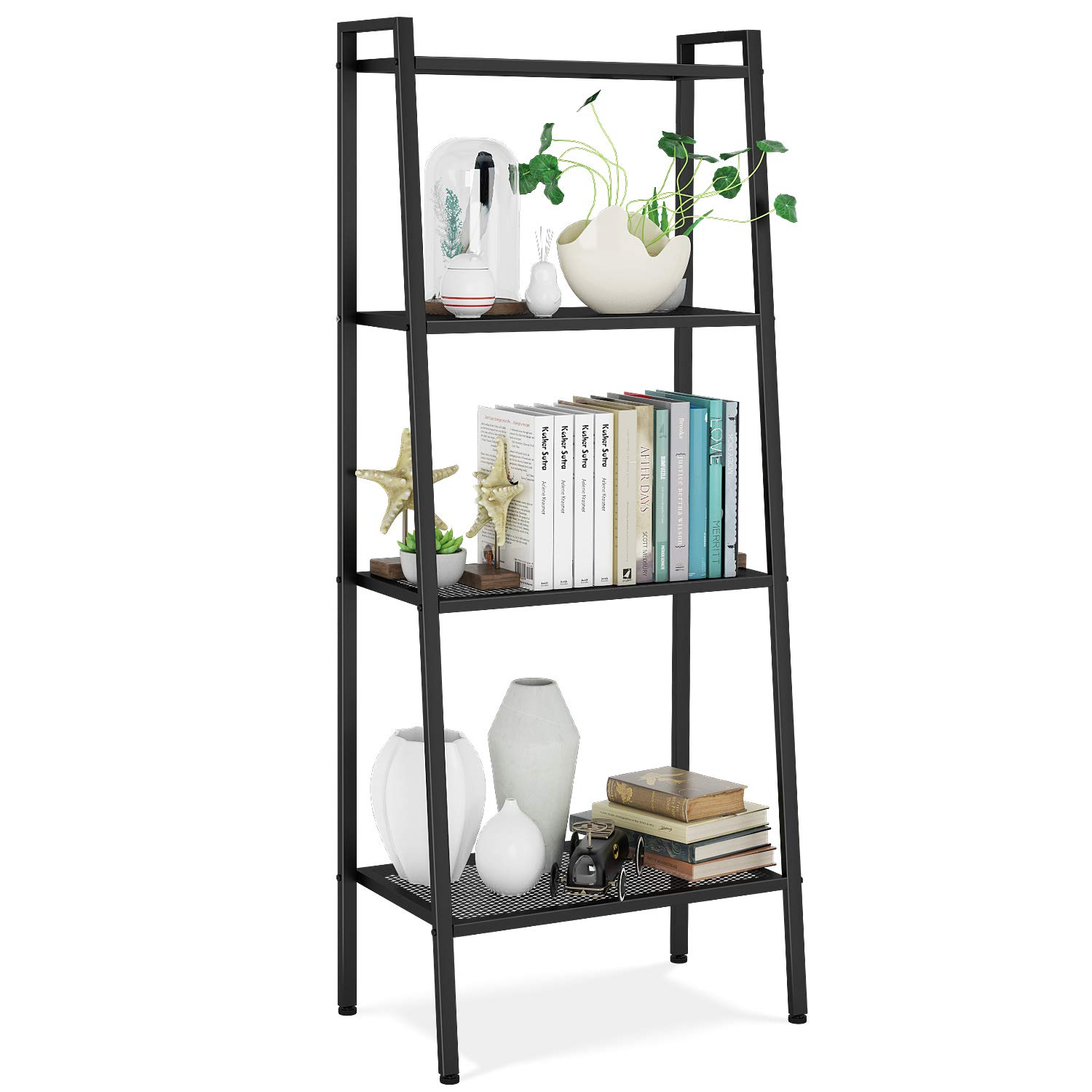 Four Shelf Vintage Bookcase by Homfa
