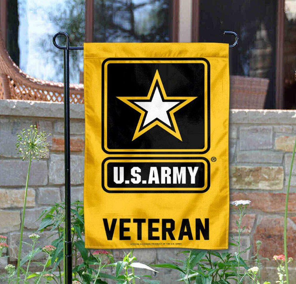 US Army Veteran Garden Flag