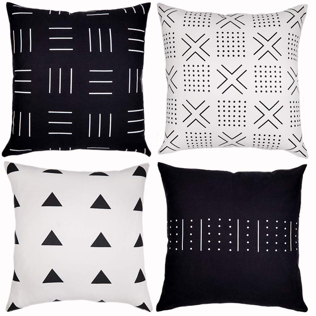four pillow covers by Woven Nook