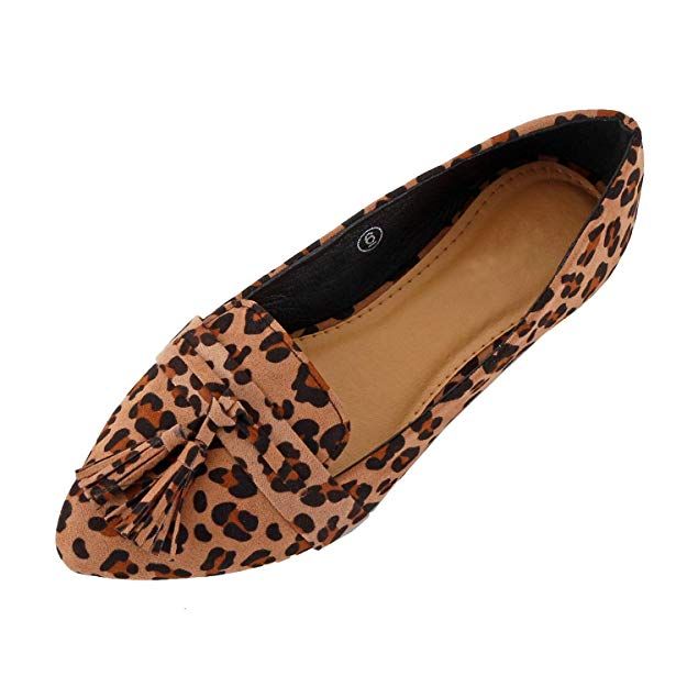 Leopard print wedge by Guilty shoes