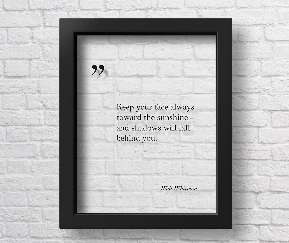A Personalized Walt Whitman Motivational Quote
