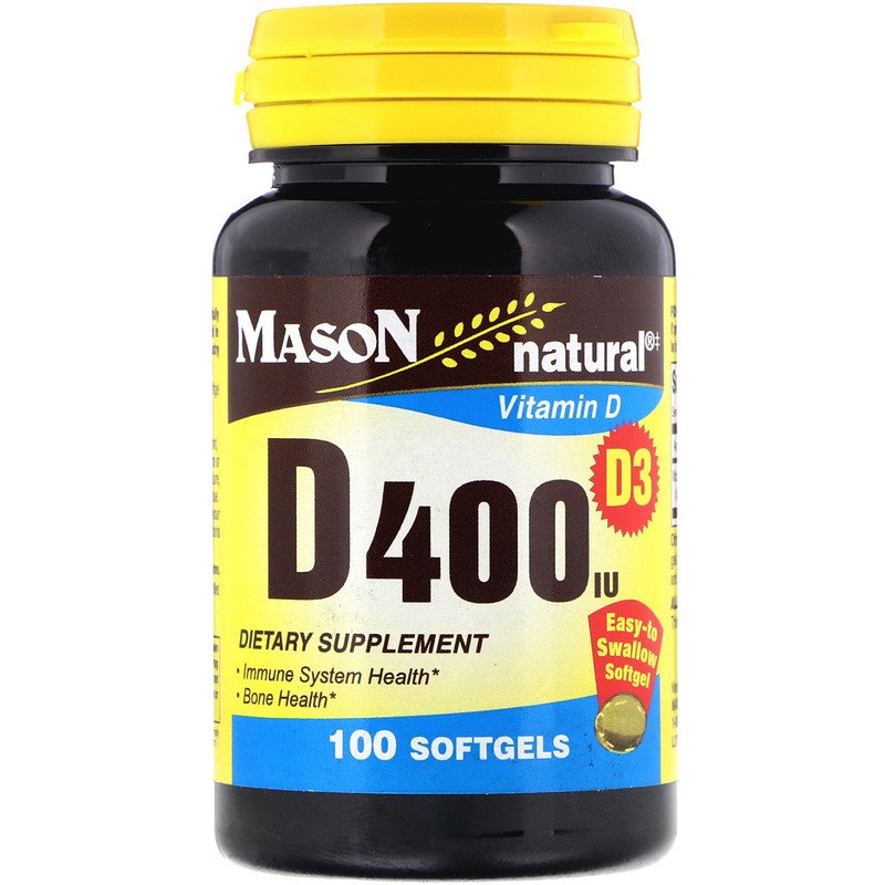 Mason Natural Vitamin D3 400 IU
