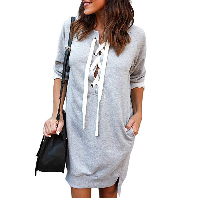 PARTY LADY Women's Casual Tunic Sweatshirt