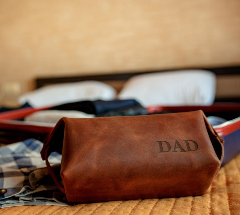 Personalized Leather Kit Bag