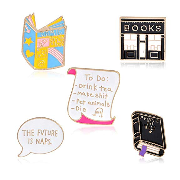 A Five Pack of Funny Enamel Pins