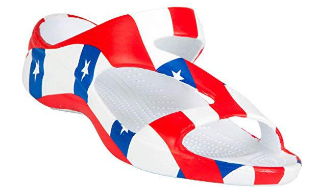 A Pair Of Betsy Ross Comfy Flip Flops