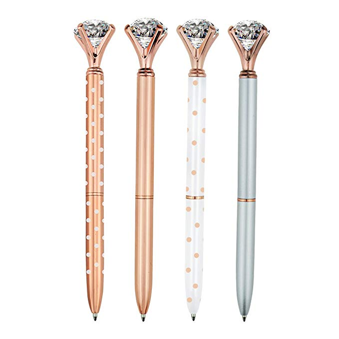 A Big Sparkling Diamond Adorned Pen Set