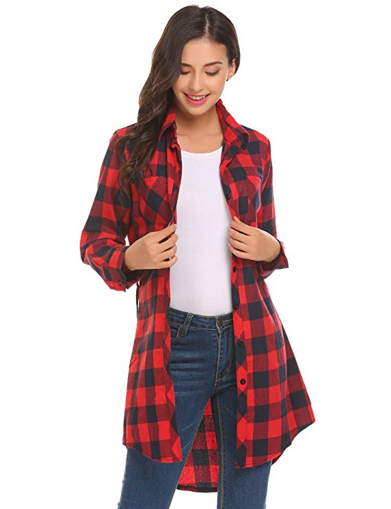 A Flannel Shirt Dress