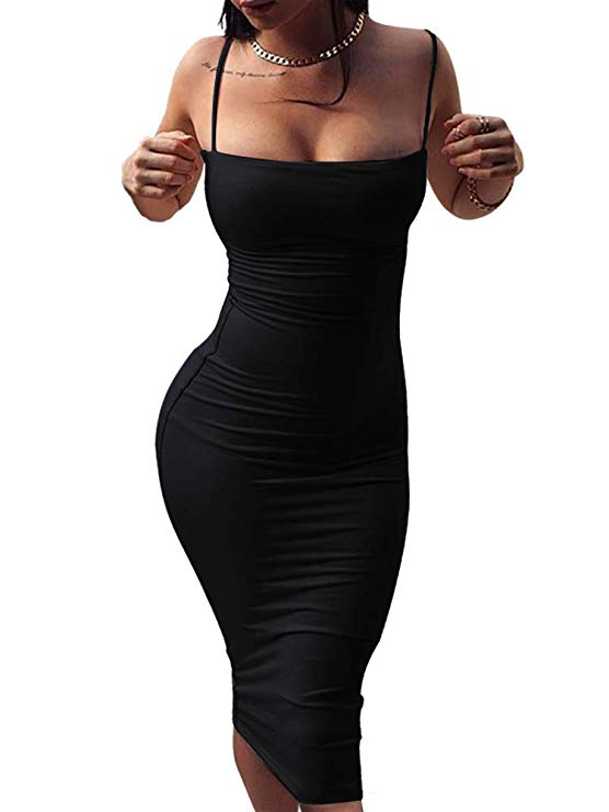 A Spaghetti Strap Bodycon Dress