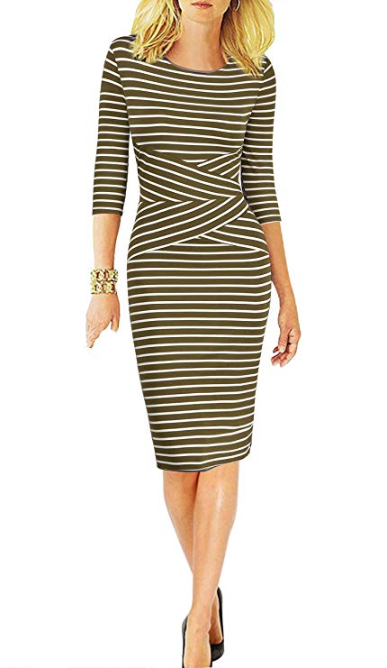 A Stripped Pencil Dress