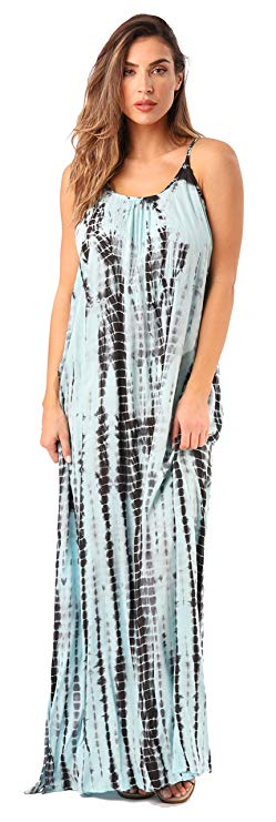 A Tie and Dye Maxi Dress