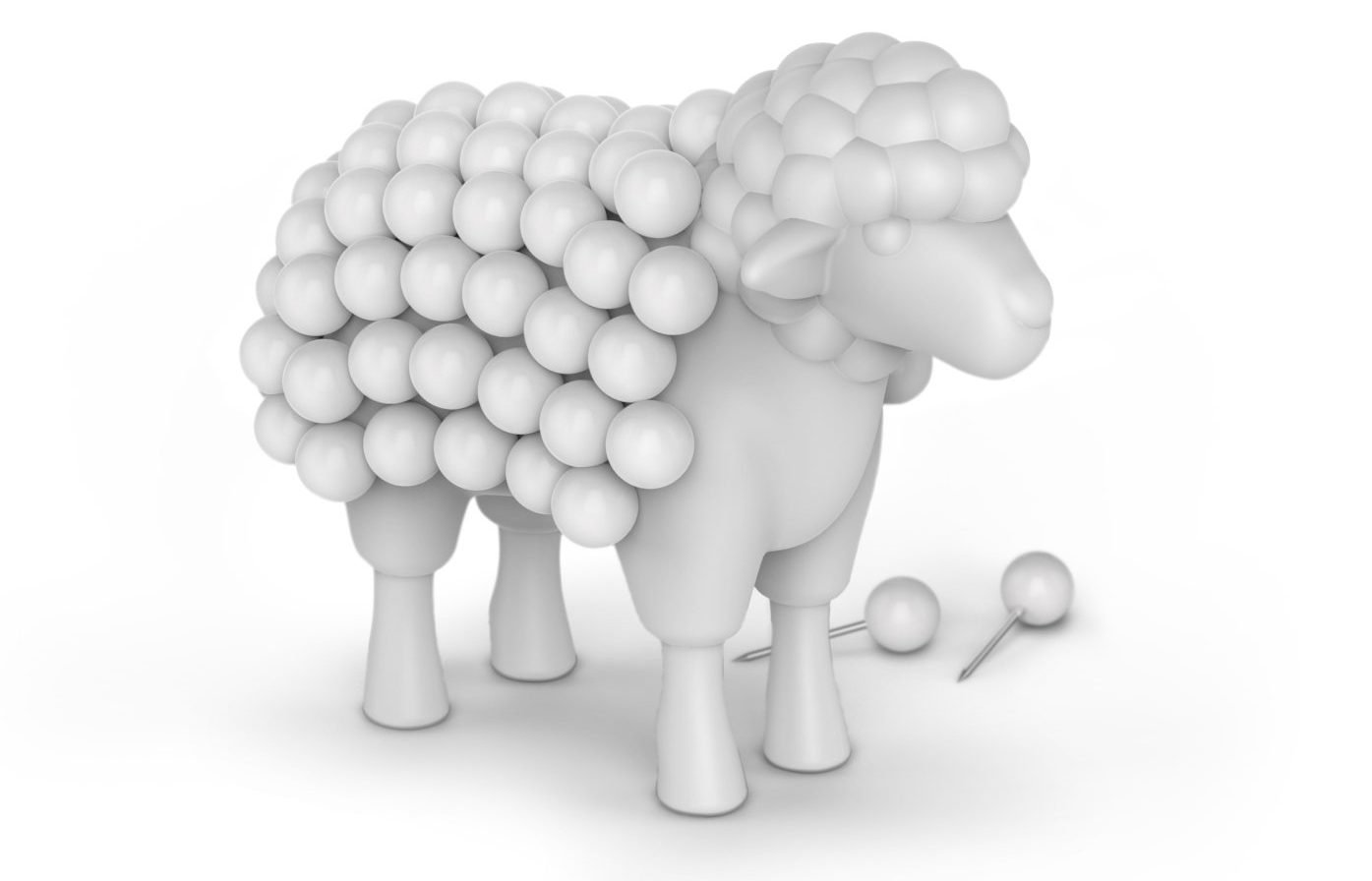 EWE Sheep Push Pin Holder