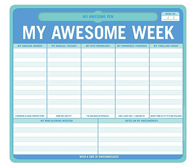 My Awesome Week Planner
