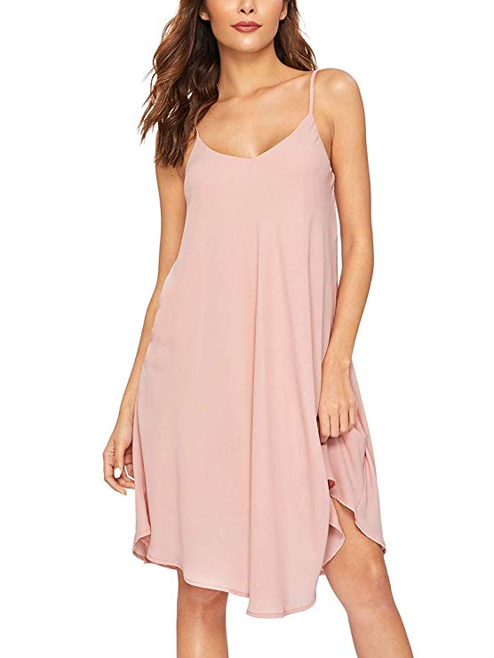 Slip Dress With Spaghetti Straps