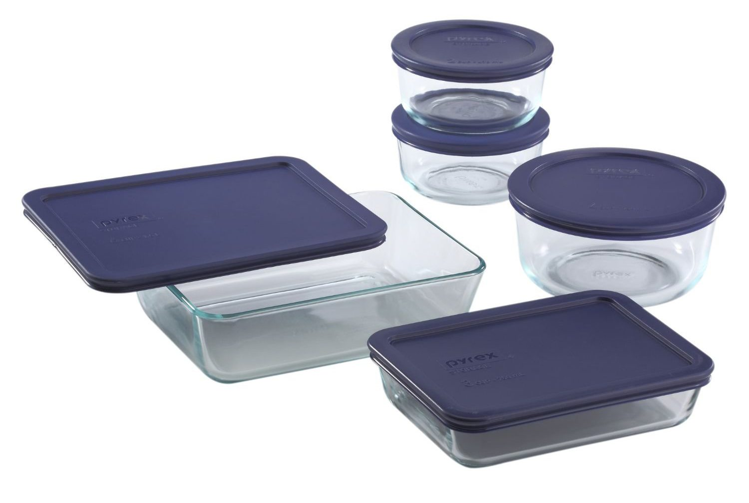 10 Piece Glass Food Container