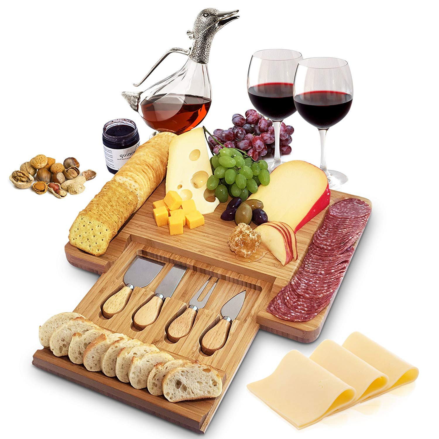 A Cheese And Charcuterie Board