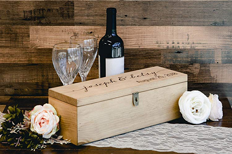 A Personalized Engraved Wine Box