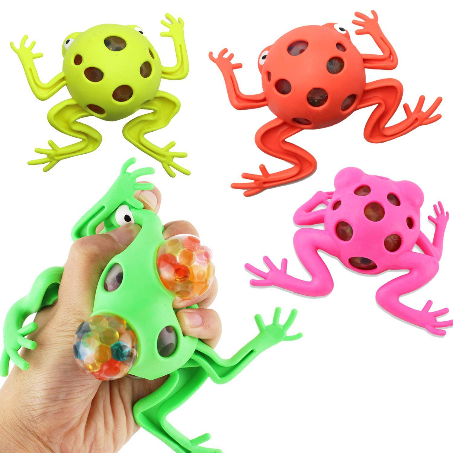 4 Pack Frog Squeeze Ball Toy