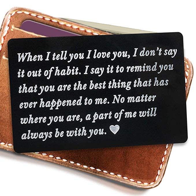 Engraved Wallet Inserts