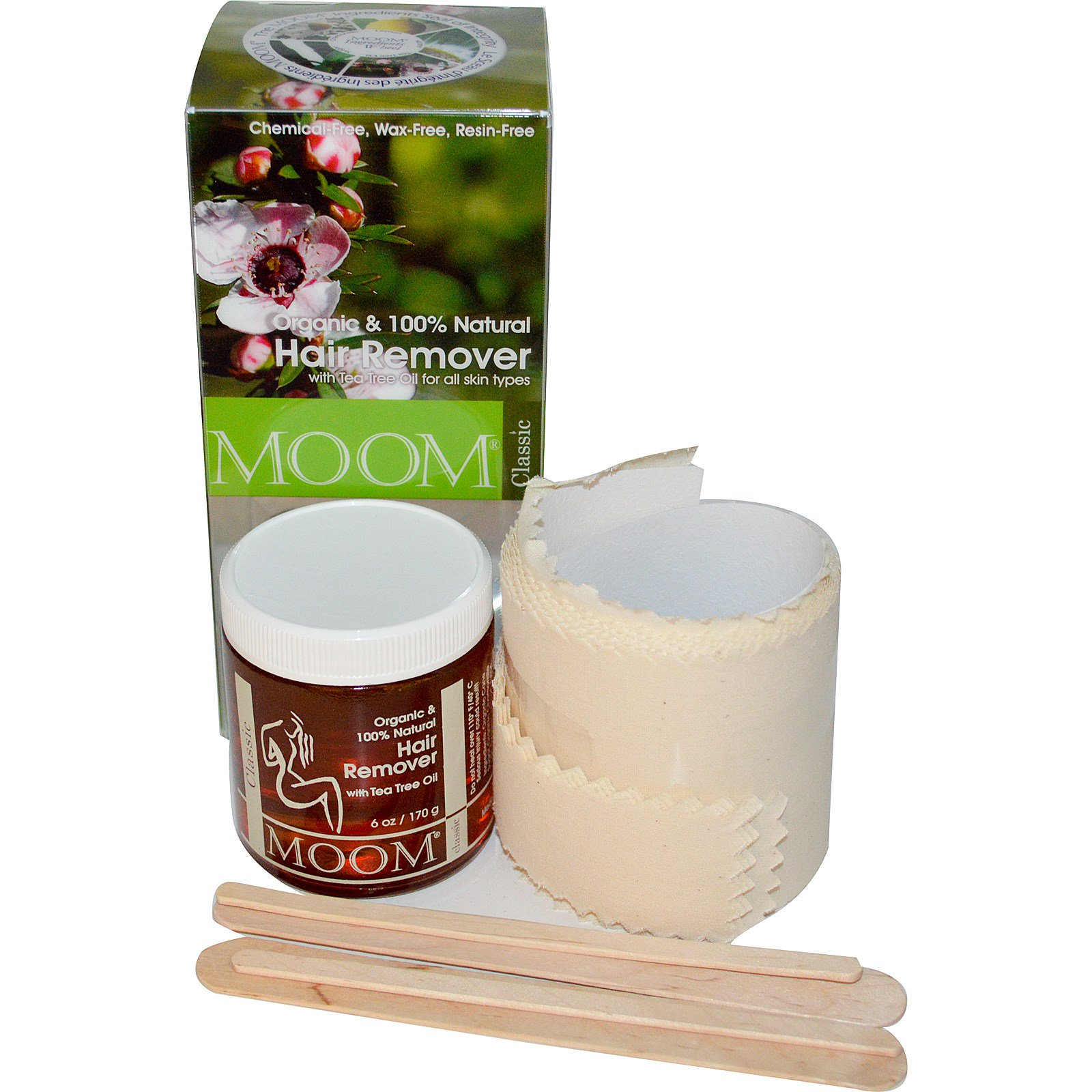 Moom Organic Hair Remover With TeaTree Oil