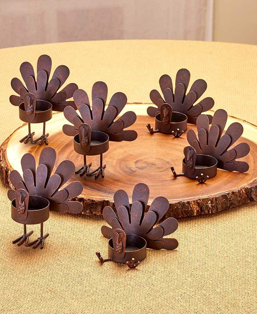 Cute Turkey Light Candle Holders