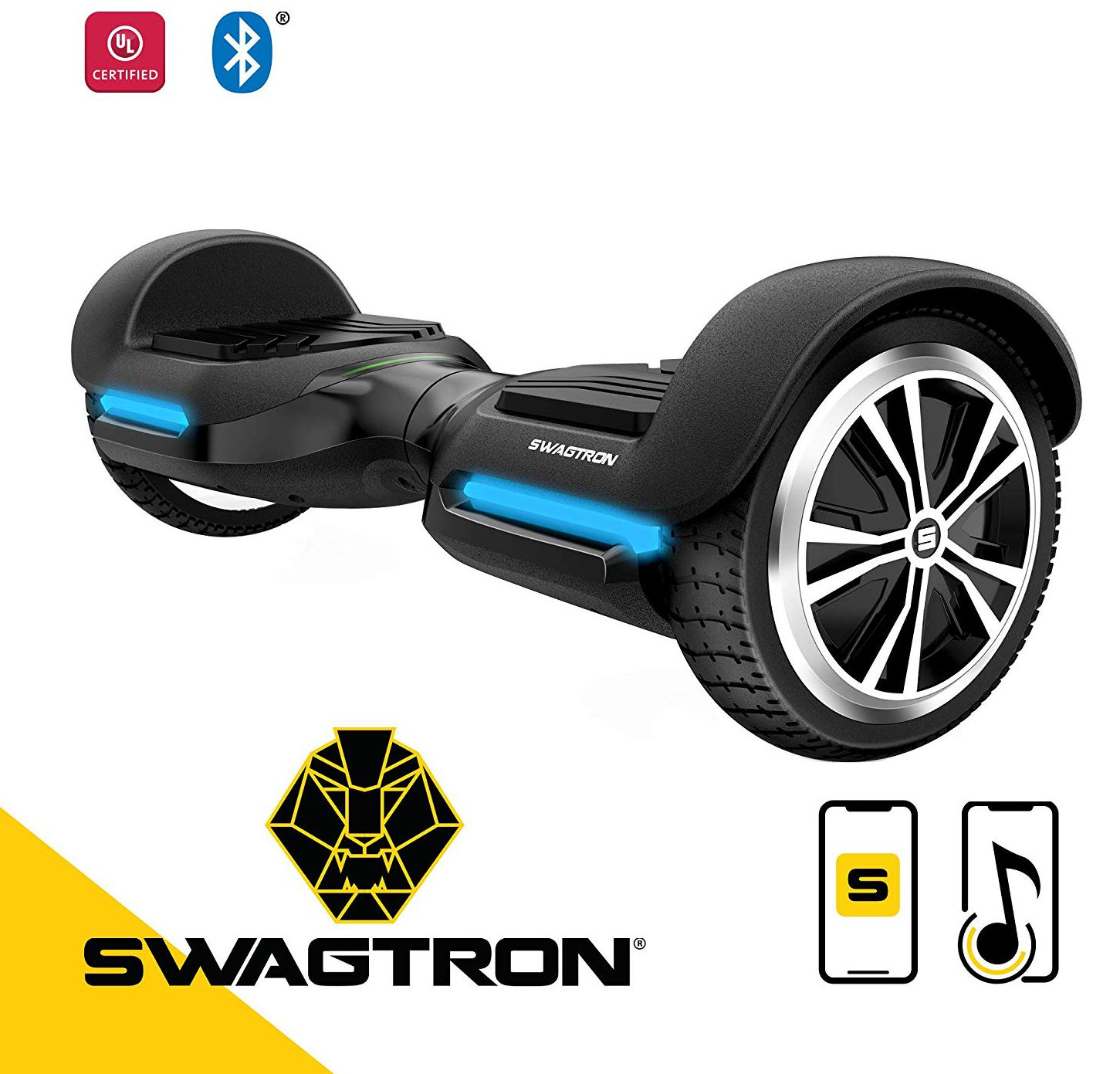 Swagtron App Enabled Bluetooth Hoverboard
