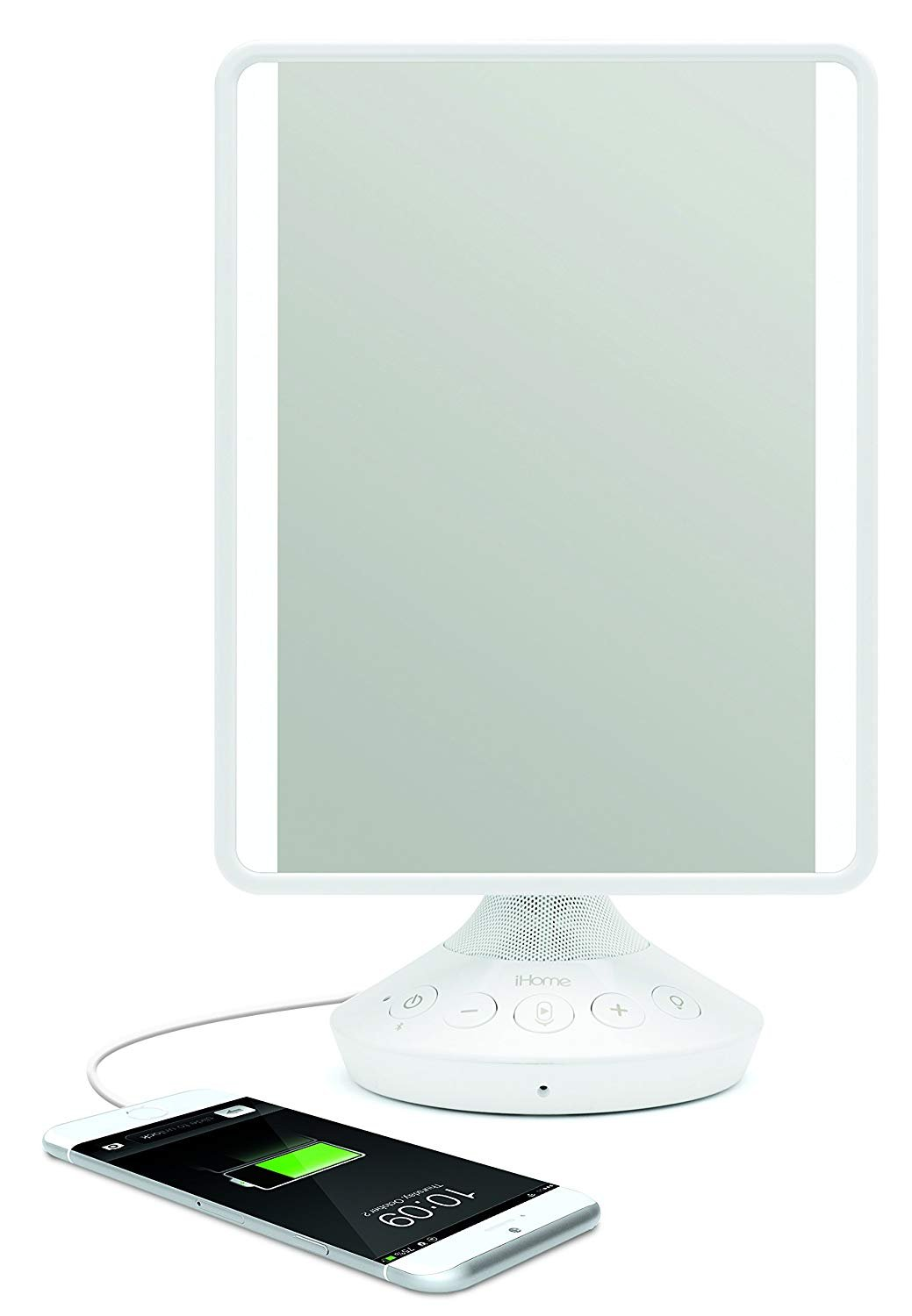 iHome Adjustable Vanity Mirror with Bluetooth Audio