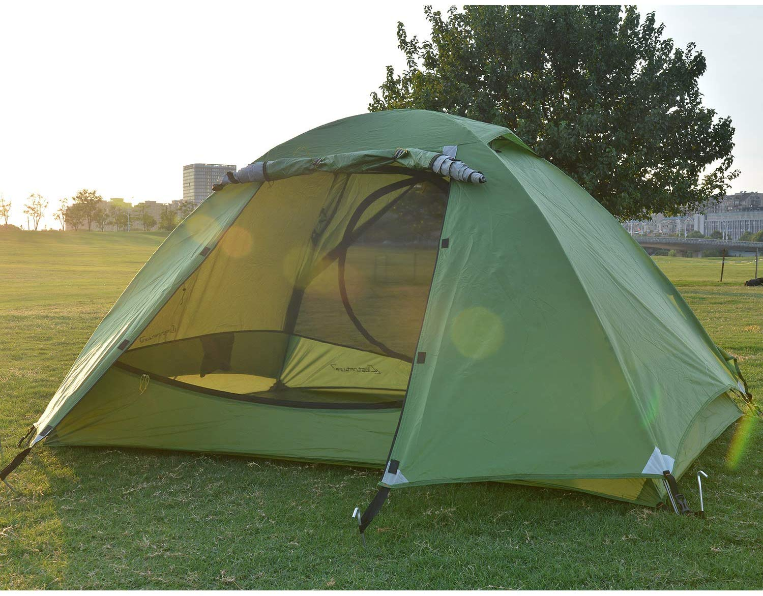 A Winter Camping Tent