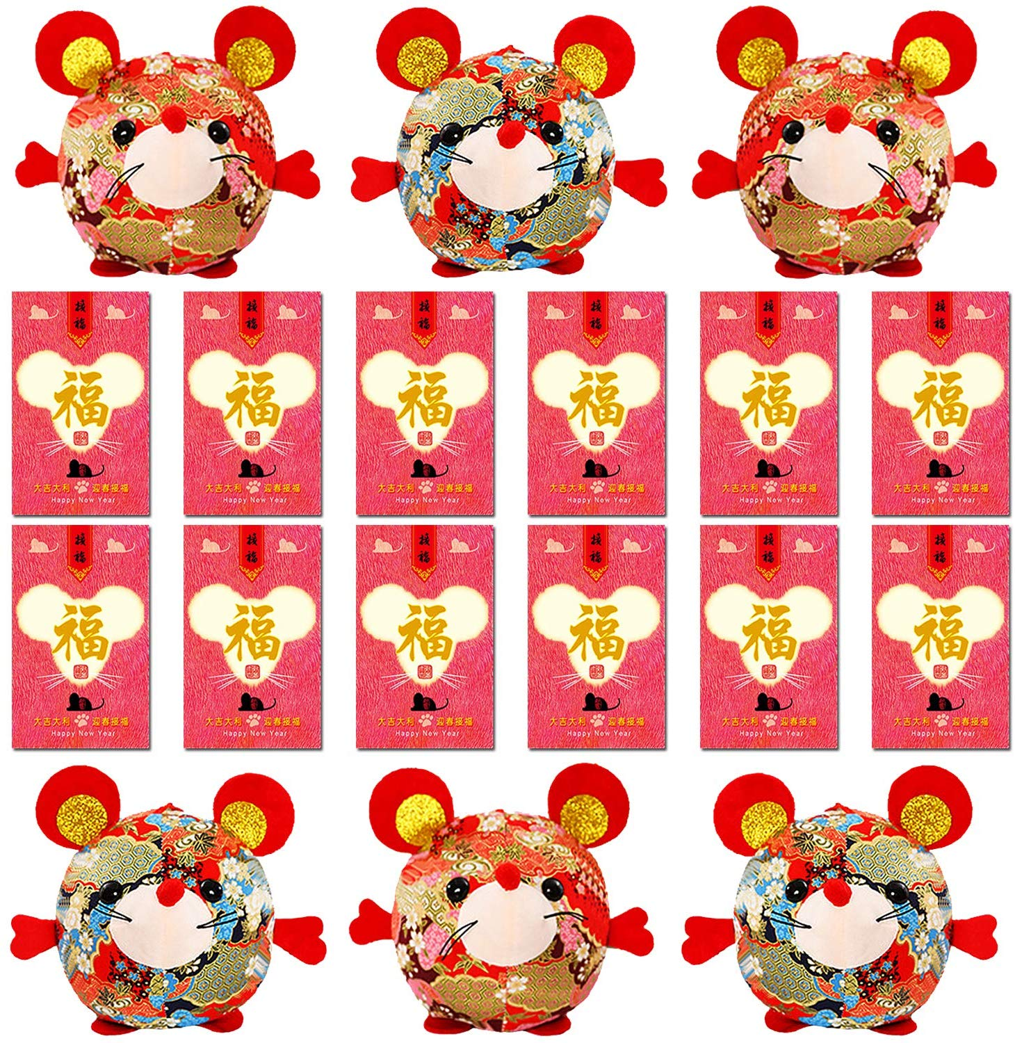 A Red Mouse Plush Toy