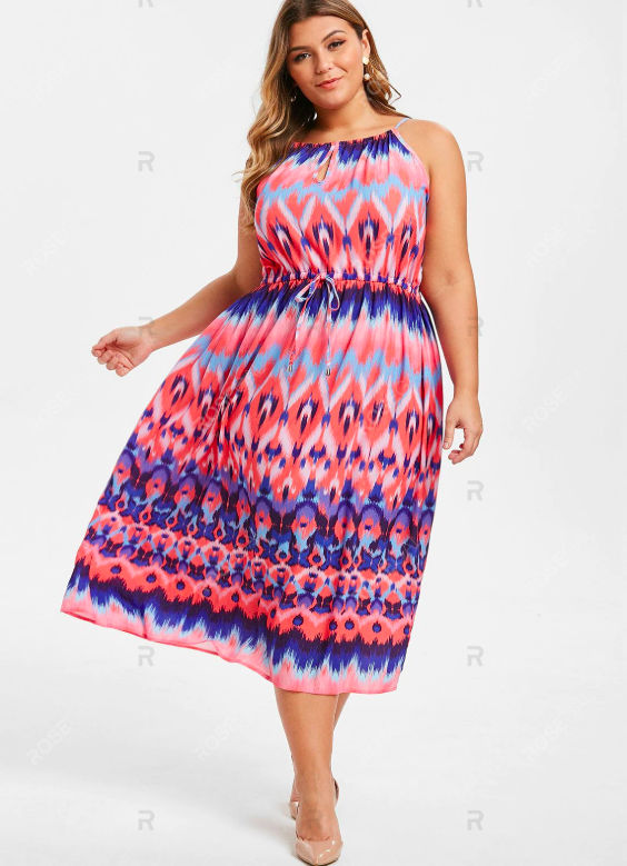 A Colourful Zigzag Dress