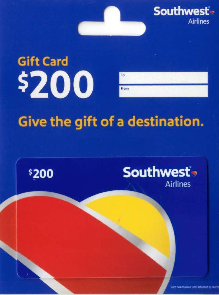 Southwest and United e-Gift Card