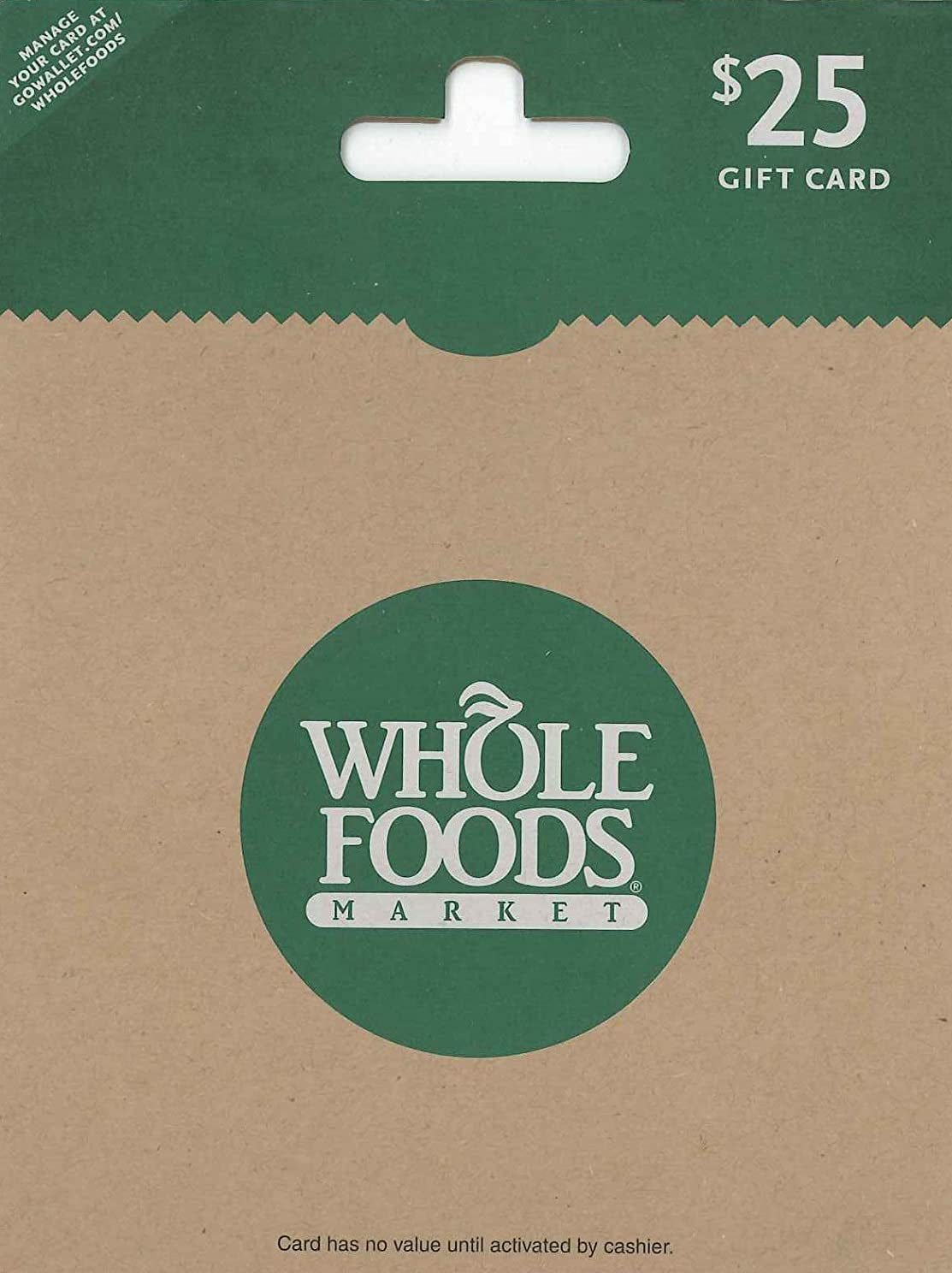 Whole Foods e-gift card