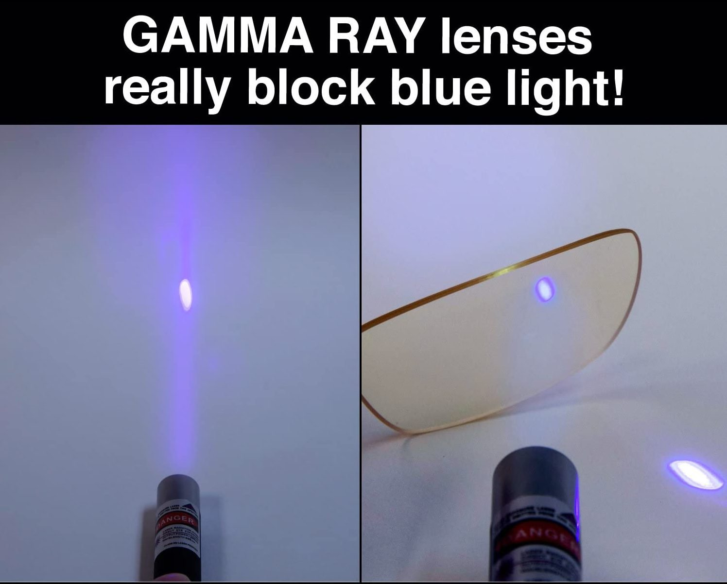 Gamma Ray Blue Light Blocking Gaming Glasses