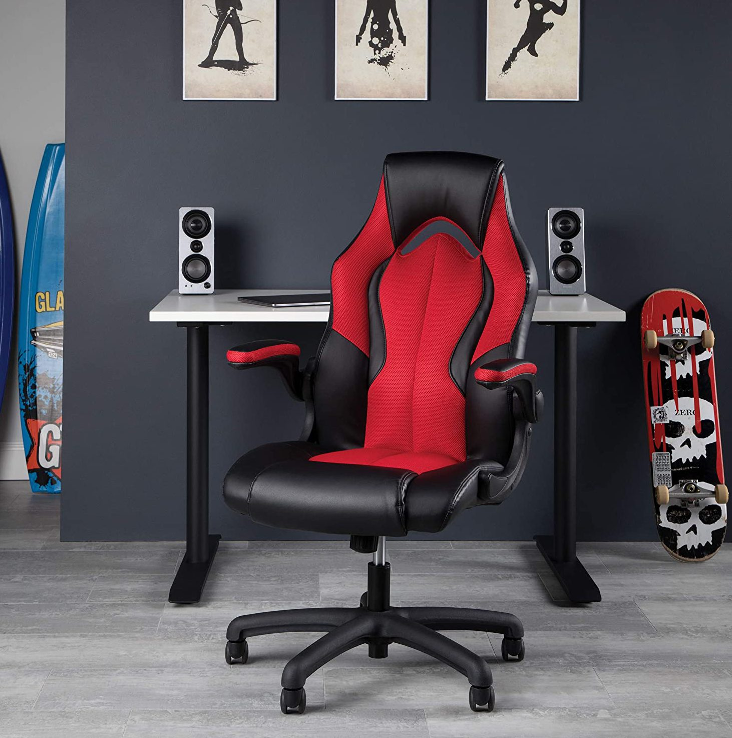 Racing Style Bonded Leather Gaming Chair