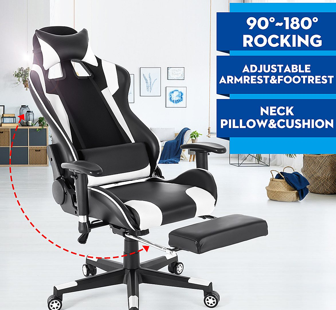Adjustable Headrest Backrest