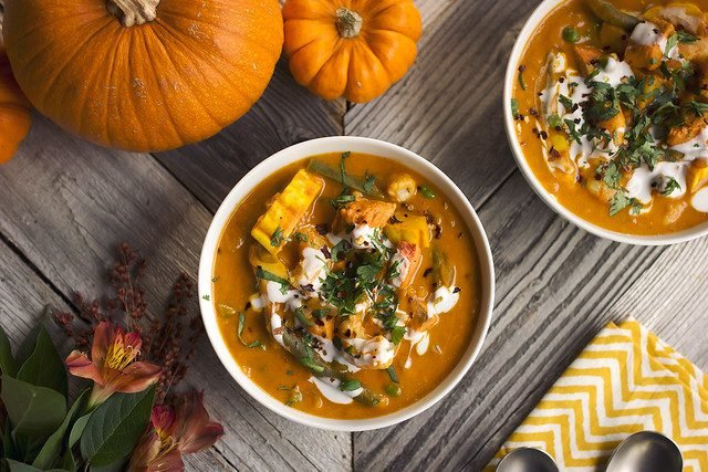 Pumpkin And Peas Curry