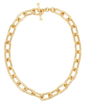 Textured Link Collar Necklace